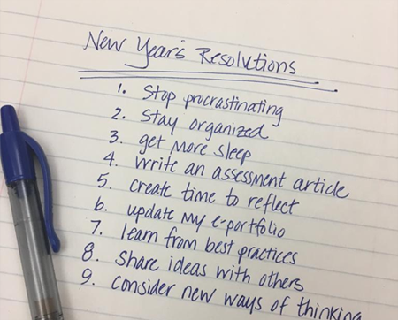 Assessment Resolutions and Reflections for the New Year | Watermark