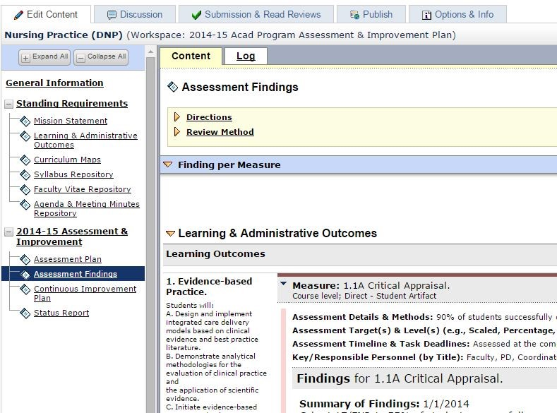 Ams Assessment  Beyond Not Your MamaS Accreditation Tracker