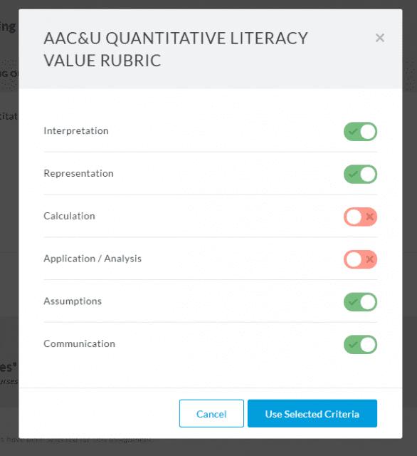 Setting Faculty Criteria in Aqua