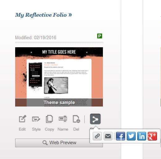 Share Your e-Portfolio
