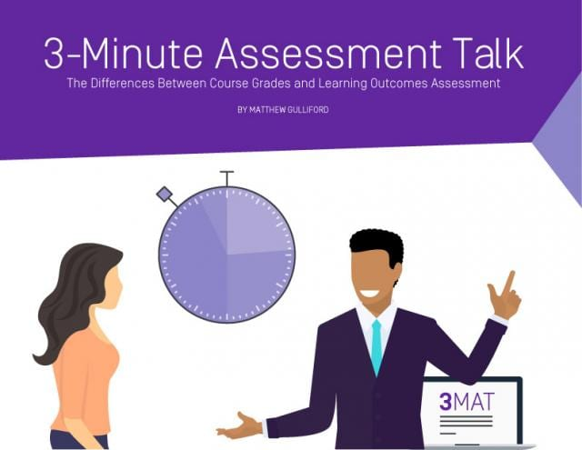 the differences between course grades and learning outcomes assessment