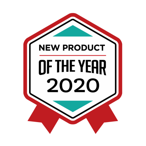 Award badge for New Product of the Year.