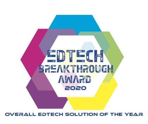 Award badge for Overall Edtech solution of the year.
