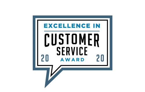 image of excellence in customer service 2020 award