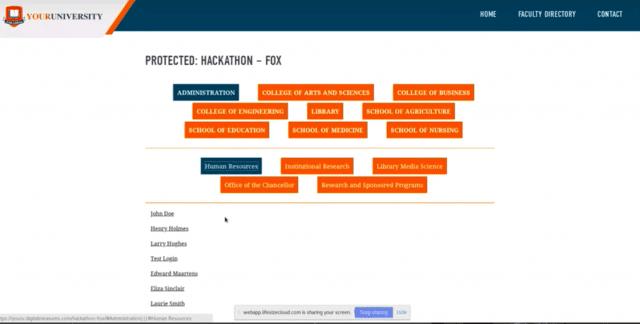 experimental work to Digital Measures Web Profiles