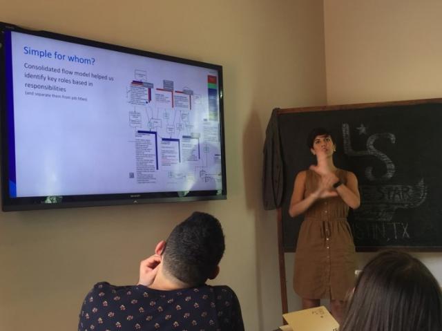 Montse Lobos discusses Taskstream's campus assessment workflows.