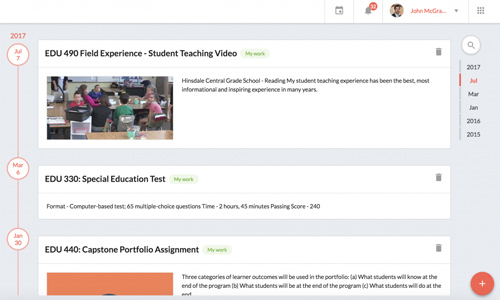 Online Student Learning Assessment Software and ePortfolio Tools for Students