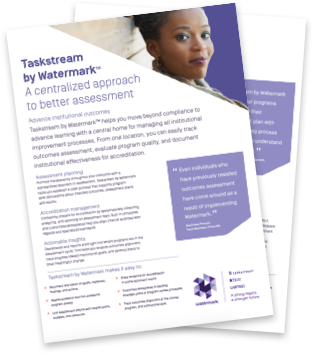 Taskstream flyer