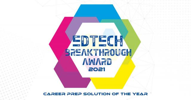 Image of the EdTech award given to Via by Watermark