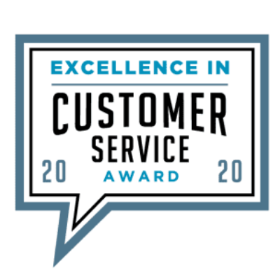 Image of the customer service award