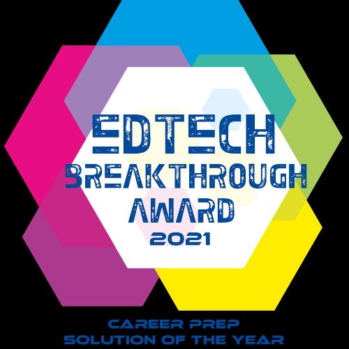 Image of the EdTech award for best career prep solution