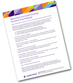 Image of the Watermark Curriculum Strategy flyer