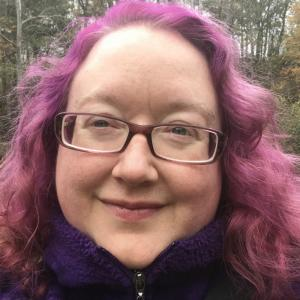 Image of woman with pink hair