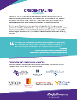 Faculty Credentialing Framework