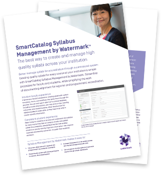 smartcatalog syllabus management by watermark
