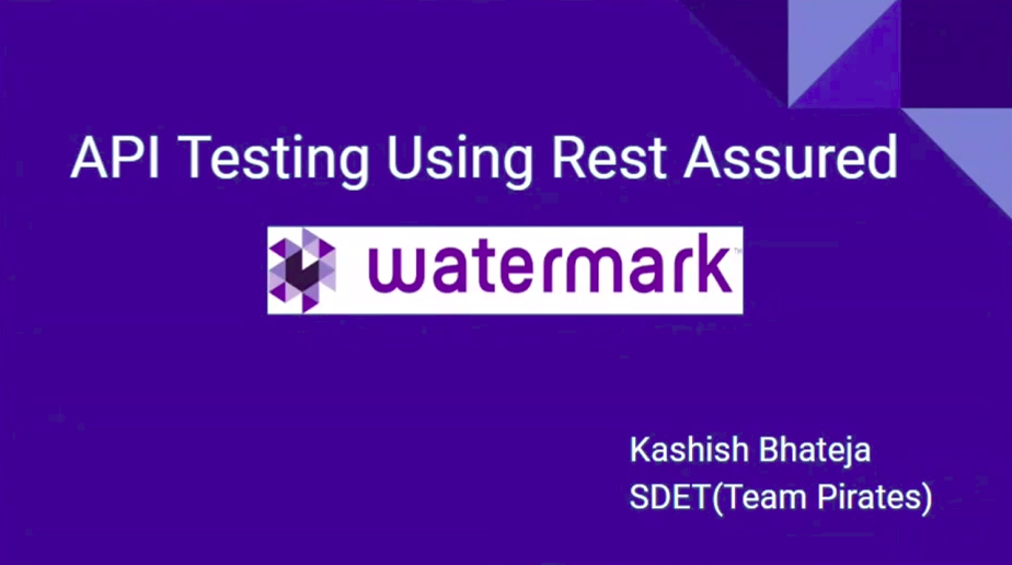 API testing using rest assured with watermark