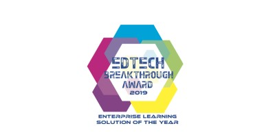 Image of the EdTech award that Watermark won in 2019.